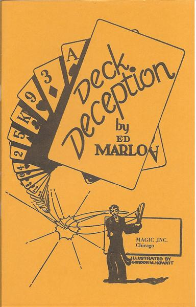 Deck Deception by Ed Marlo - Book