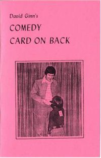 Comedy Card on Back by David Ginn - Book