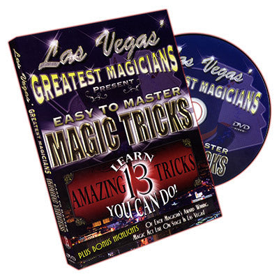 Easy to Master Magic Tricks by Las Vegas Greatest Magicians - DVD