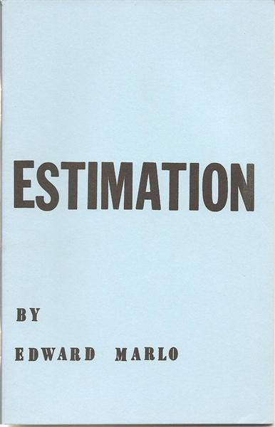 Estimation by Ed Marlo - Book