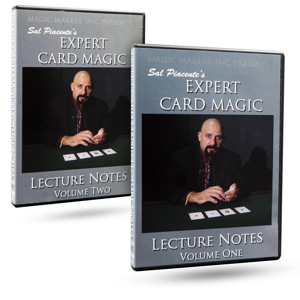 Expert Card Magic Lecture Notes - Sal Piacente's - 2 DVD Set