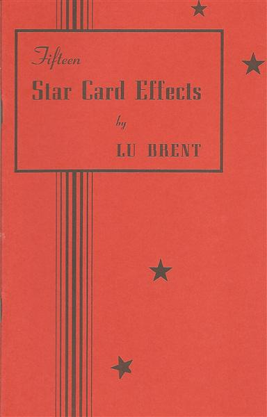 Fifteen Star Card Effects by Lu Brent - Book
