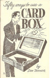50 Ways To Use A Card Box by Don Tanner - Book