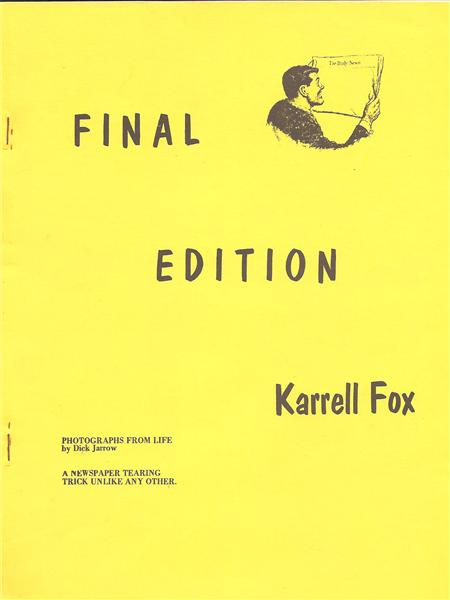 Final Edition by Karrell Fox - Book