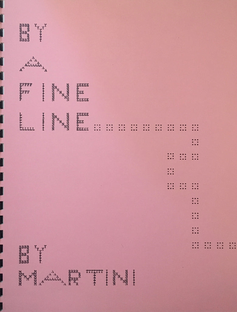 By A Fine Line by Martini - Book