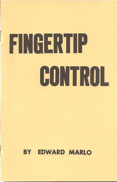 Fingertip Control by Ed Marlo - Book
