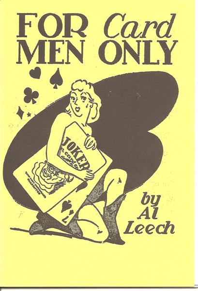 For Card Men Only by Al Leech - Book