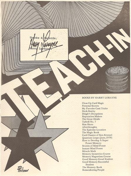 Teach-In by Harry Lorayne - Book