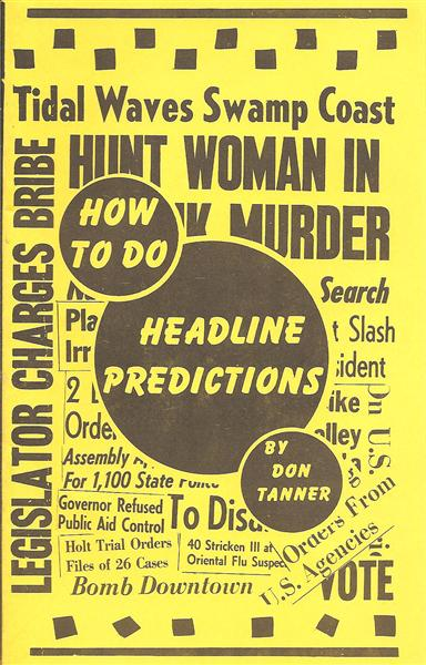 How To Do Headline Predictions by Don Tanner - Book