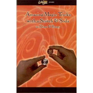 Amazing Magic Tricks with Scotch and Soda or Dime and Penny - Book