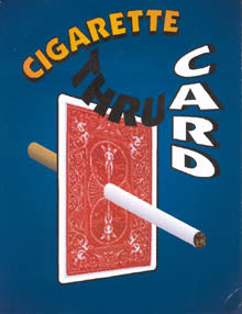 Cigarette Thru Card by MAK Magic - Trick