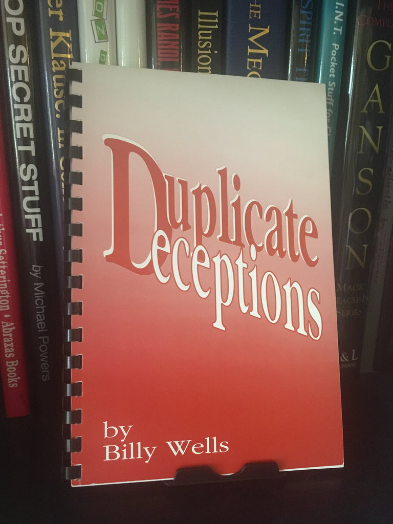 Duplicate Deceptions bu Billy Wells - Book