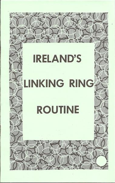 Ireland's Linking Ring Routine by Laurie Ireland - Book