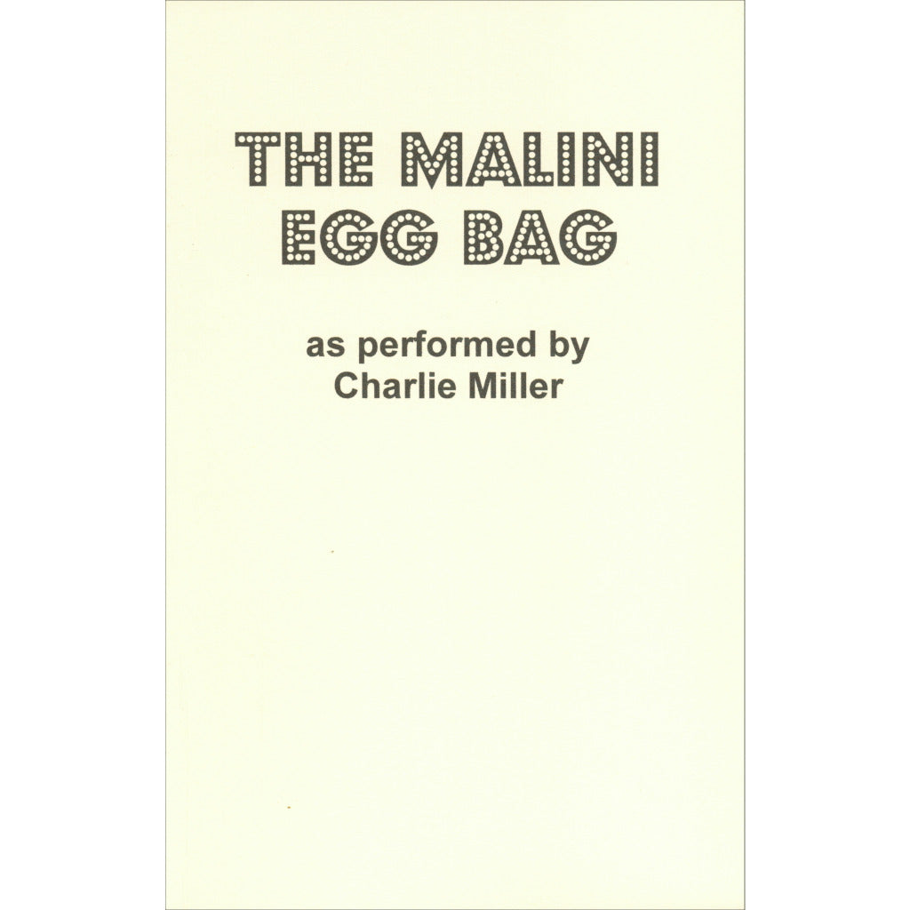 The Malini Egg Bag by Charlie Miller - Book