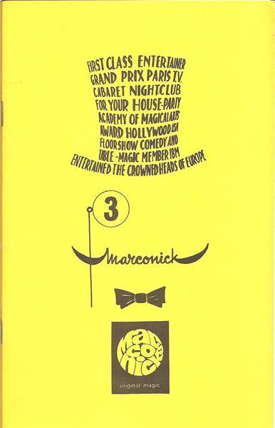 Marconick's Original Magic Series by Marconick - Book