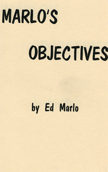 Marlo's Objectives by Ed Marlo - Book