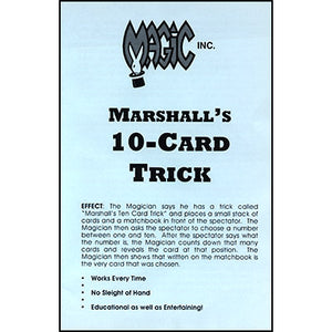 Marshall's 10-Card Trick by Sandy Marshall - Trick
