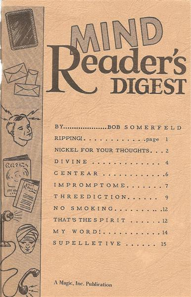 Mind Reader's Digest by Bob Somerfeld - Book