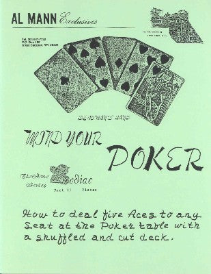 Mind Your Poker by Al Mann - Book
