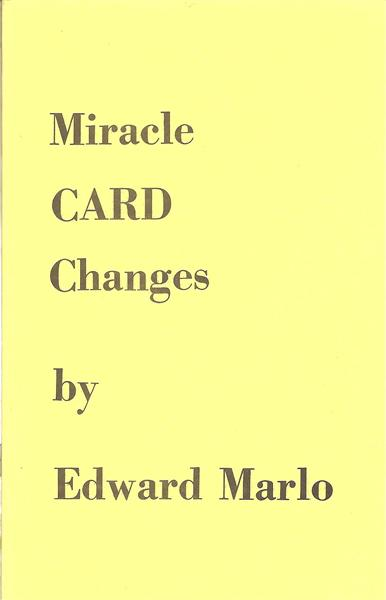 Miracle Card Changes by Ed Marlo - Book