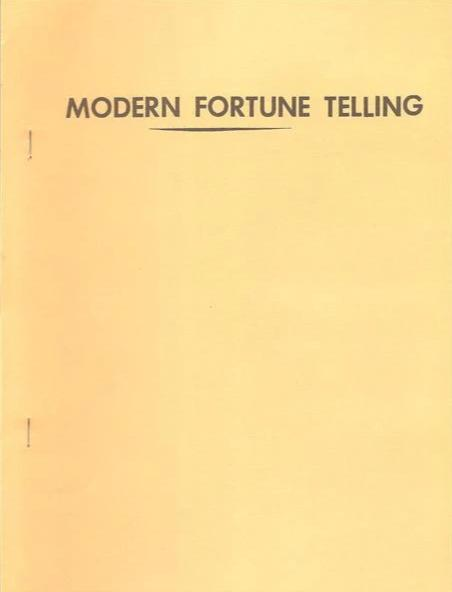 Modern Fortune Telling by S.W. Reilly - Book