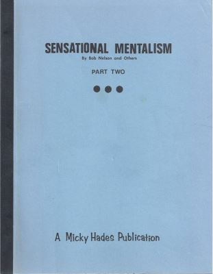 Sensational Mentalism by Bob Nelson - Book