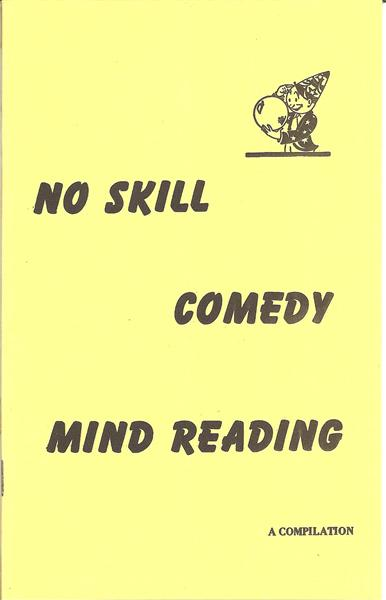 No Skill Comedy Mind Reading by S.W. Reilly - Book