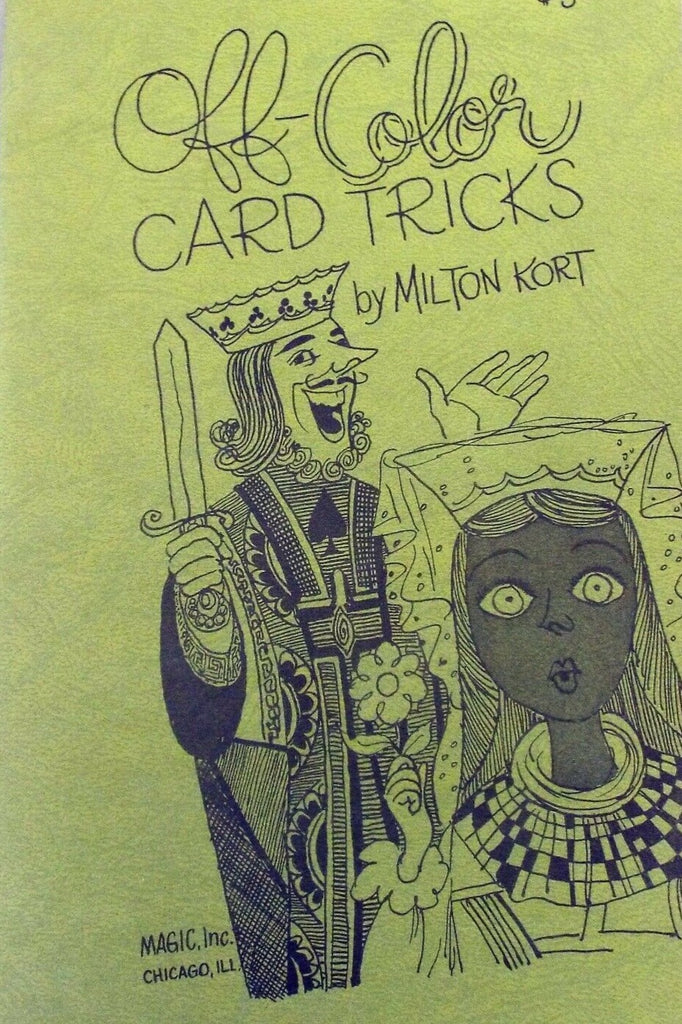 Off Color Card Tricks by Milton Kort - Book