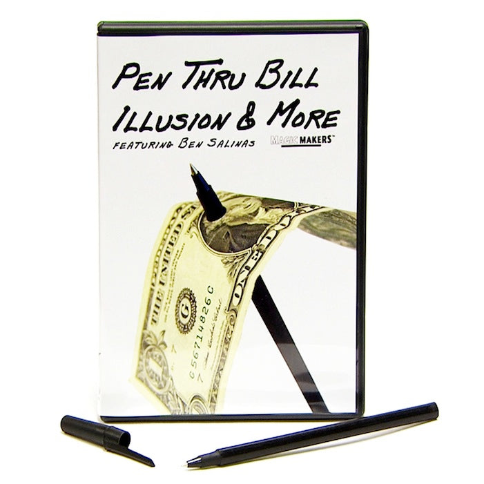 Pen Thru Bill Illusion & More by Ben Salinas - DVD