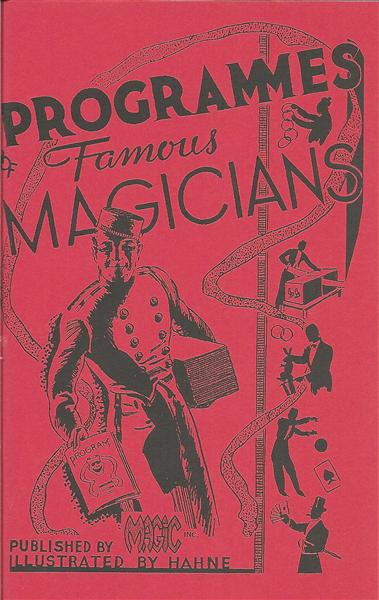 Programmes of Famous Magicians by Max Holden - Book