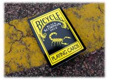 Bicycle Black Scorpion Playing Cards by Magic Makers