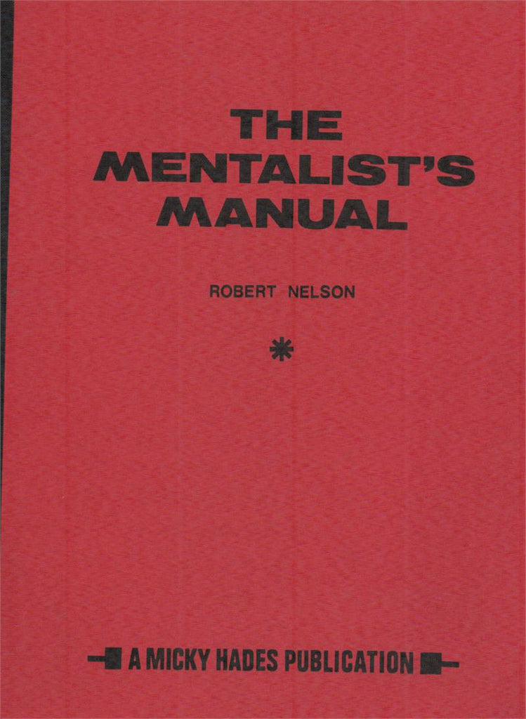 The Mentalist's Manual by Robert Nelson - Book