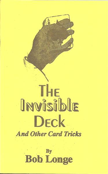 The Invisible Deck by Bob Longe - Book