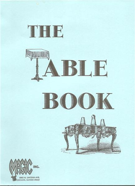 The Table Book by Gene Gloye - Book