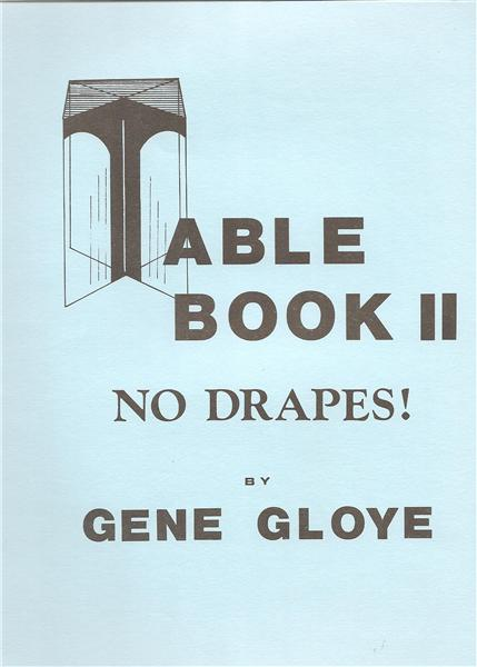 The Table Book II by Gene Gloye - Book