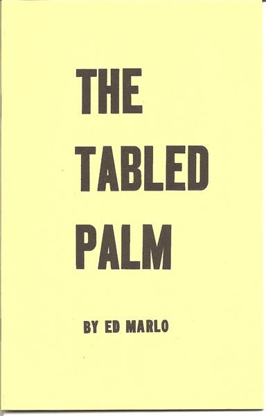 The Tabled Palm by Ed Marlo - Book