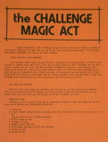 The Challenge Magic Act by U.F. Grant - Book