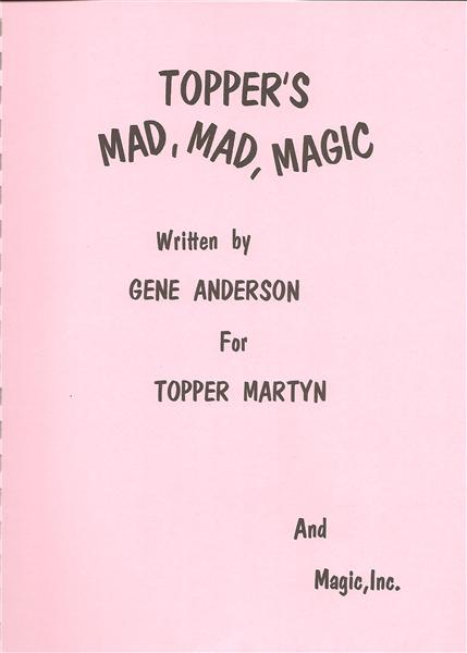 Topper's Mad, Mad, Magic by Gene Anderson and Topper Martyn - Book