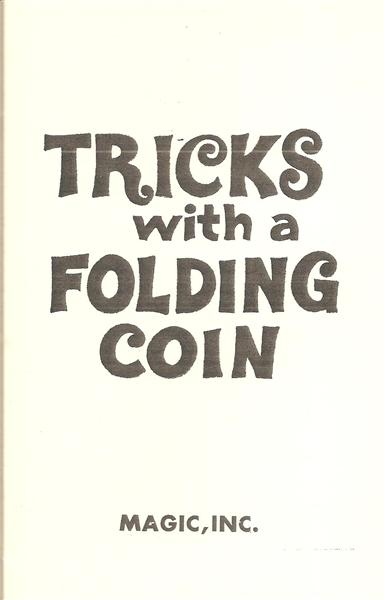 Tricks With A Folding Coin - Book