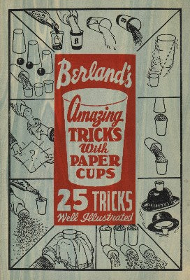 Berland's Amazing Tricks with Paper Cups - Book