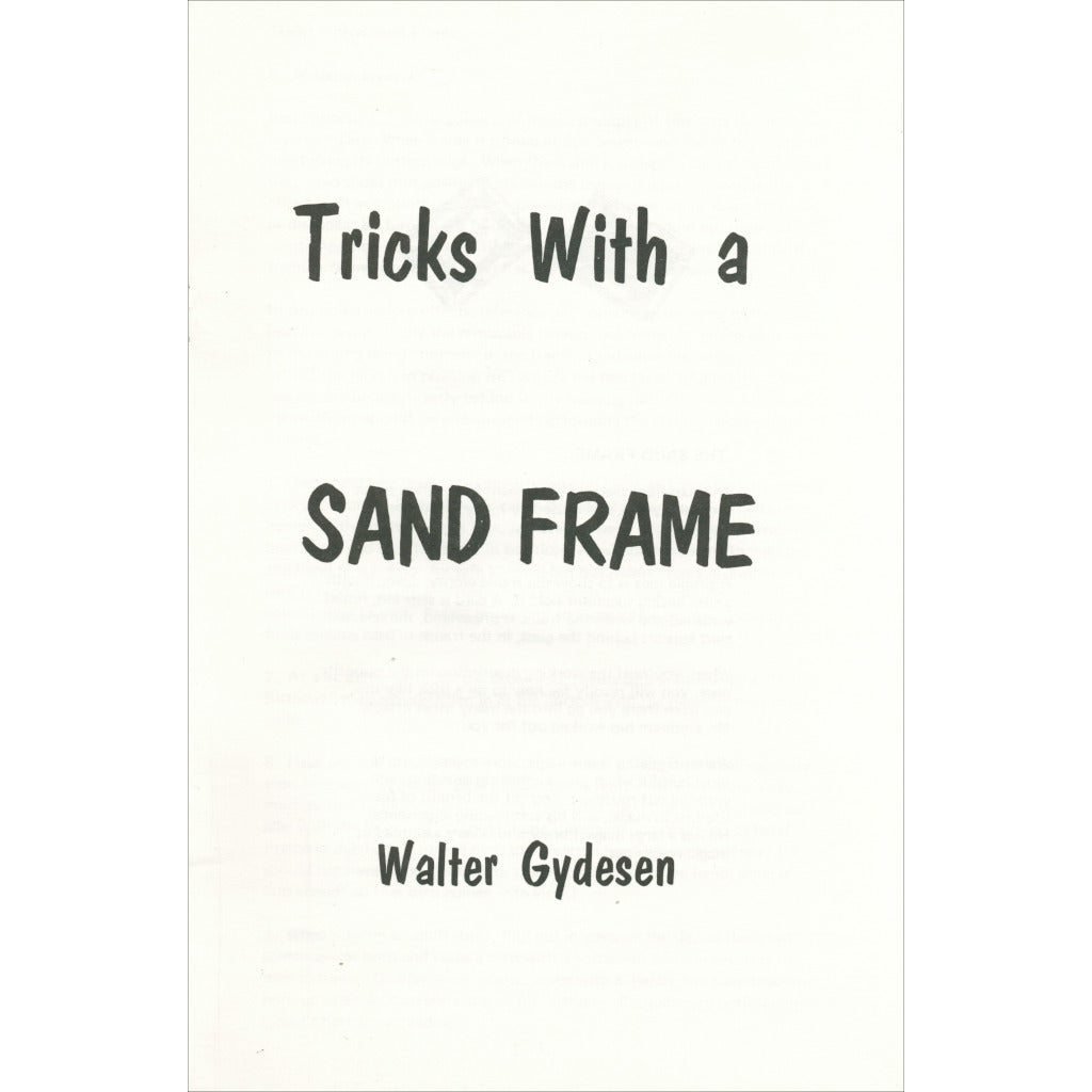 Tricks with a Sand Frame by Walter Gydesen - Book
