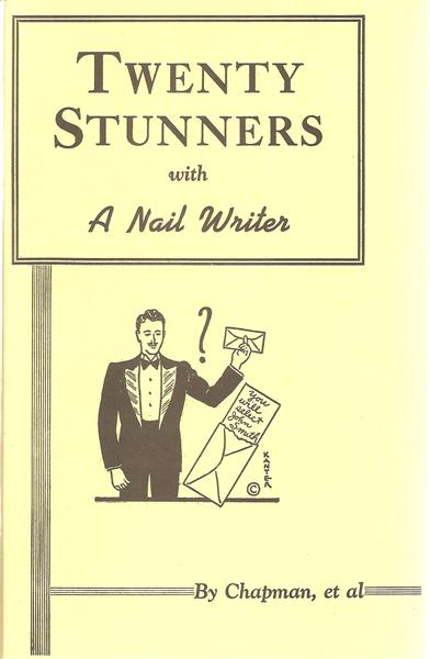 Twenty Stunners With a Nail Writer by Franklin Chapman and Ralph Read - Book