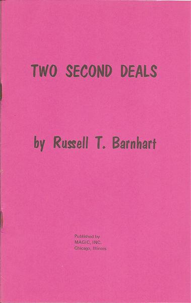 Two Second Deals by Russell Barnhart - Book