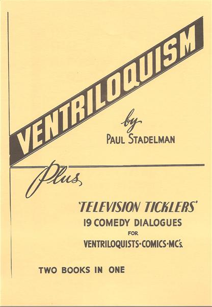 Ventriloquism Plus Television Tickler by Paul Stadelman - Book