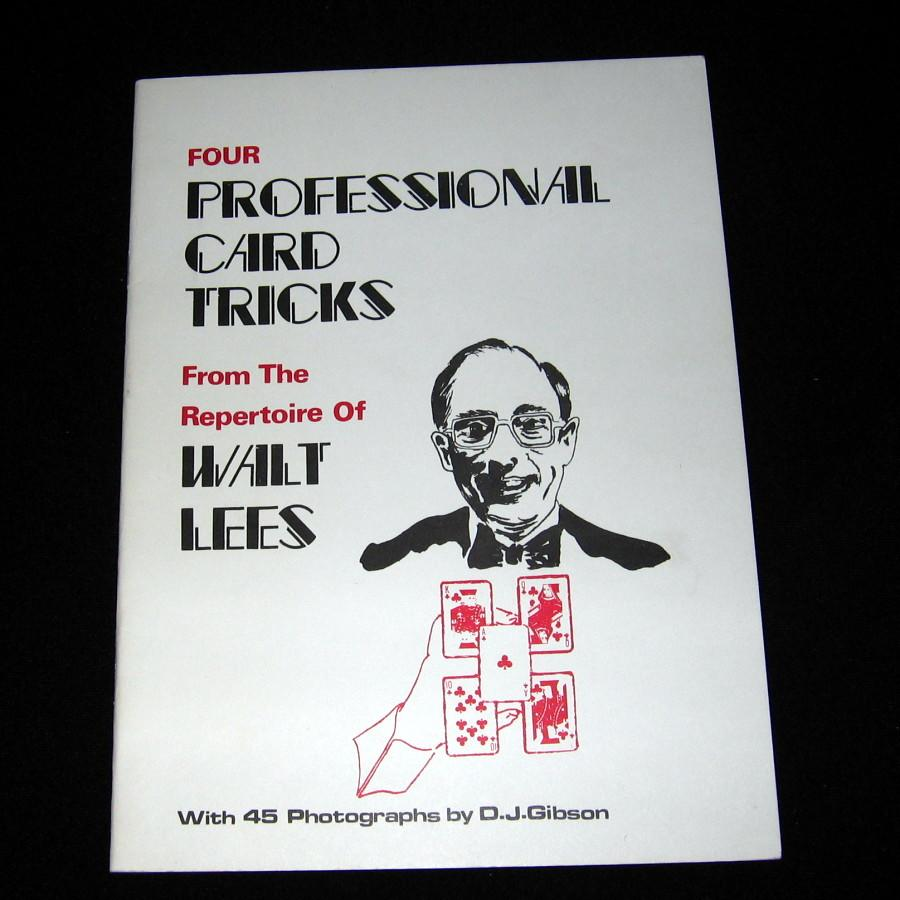 Four Professional Card Tricks by Walt Lees - Book
