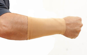 "Original Tatjacket Jr. Lower Arm Tattoo Cover Up Sleeves Unisex 8"" - TAN (2-PACK)"