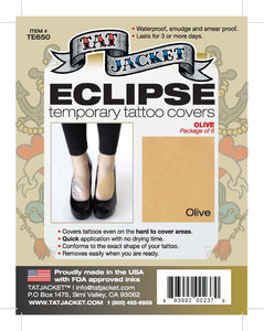 Tatjacket Eclipse Tattoo Covers (6-Pack) - OLIVE