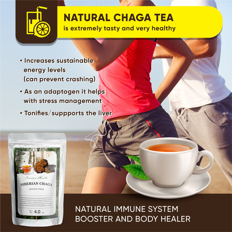 Premium Wild Harvested Chaga Mushrooms (4 oz) | Healthy Immune System Support | Antioxidant Tea Supplement