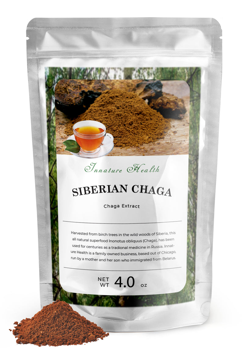Chaga Extract 100% Natural (4 oz) | Antioxidant, Immune System Support, Anti-Aging