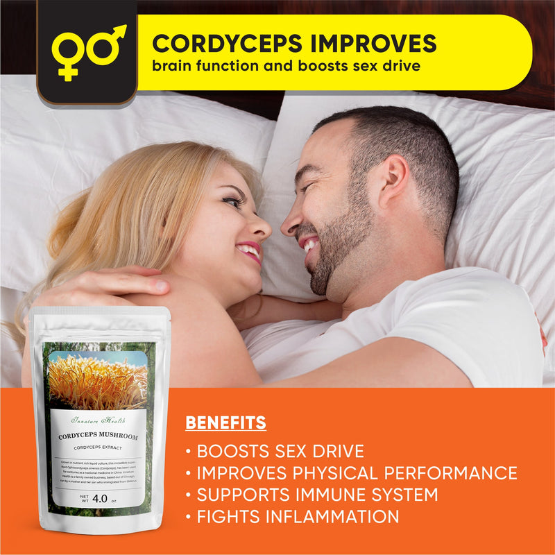 Cordyceps Extract (4 oz) – Immune Support Boost – Cardiovascular Health Promoting Supplement